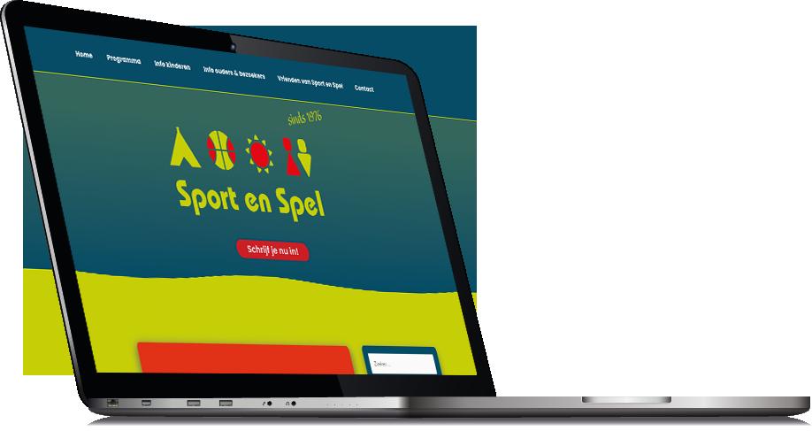Portfolio item website voor Sport en Spel