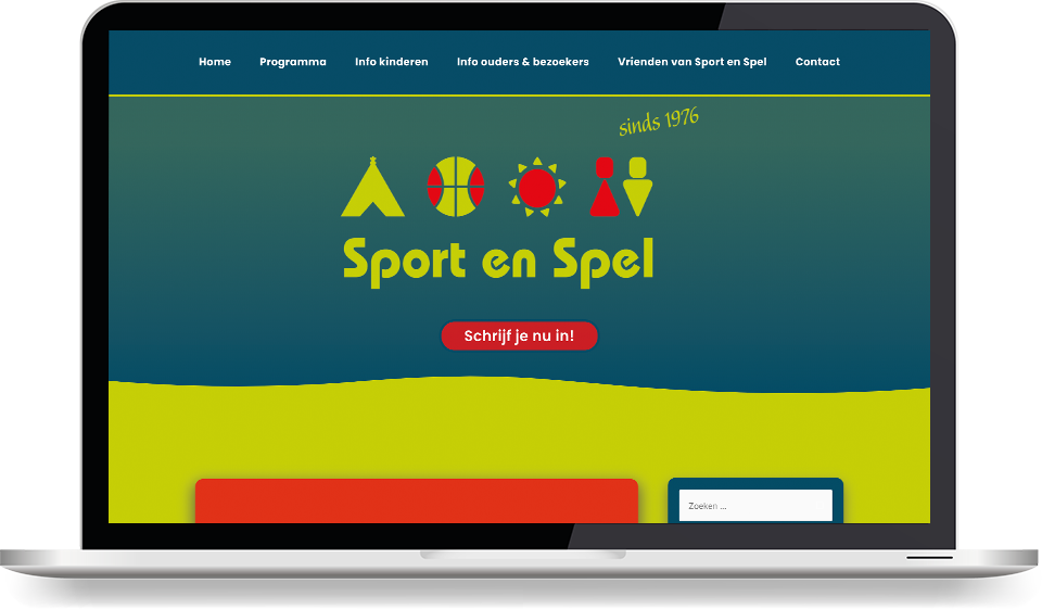 Portfolio mockup Sport en Spel