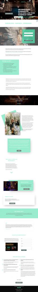 Bedrijfsfeest pagina Sylvia Peek Events door Webventure by Jolanda