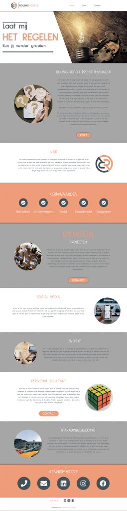 Homepage Roling Regelt door Webventure by Jolanda