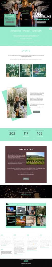 Homepage Sylvia Peek Events door Webventure by Jolanda